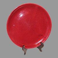 Bauer Bergundy Monterray Dinner Plate - 1940s