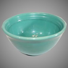 Bauer Multiring Green 7 1/2 inch Bowl - 1940s