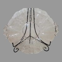 Cambridge Rose Point Crystal 12 Inch 2 Handled Plater