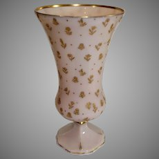 Cambridge Crown Tuscan Chintz Footed Vase - 1930-40s