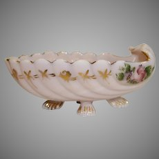 Cambridge Crown Tuscan Shell Pattern Oblong Bowl in the Carlton Pattern - 1940s