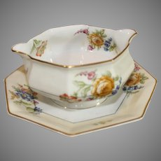 Haviland Sause Container - Peony Pattern - 1920-1936