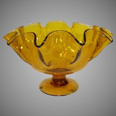 Vintage Murano Amber Hand Blown Centerpiece