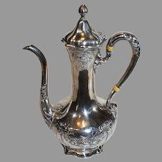 Antique Gorham Art Nouveau Sterling Silver Coffee Server - c. 1906