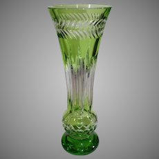Vintage Waterford Fleurology 14 Inch Amy Lime Bouquet Vase - Hungary