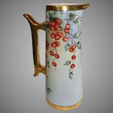 Large Limoges T and V Tankard - c. 1892