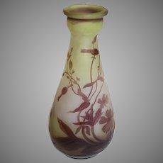 Miniature Galle Cameo Art Glass - c. 1900-1910