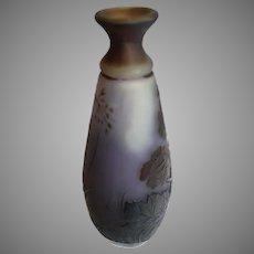 Cameo Glass Emil Galle Miniature Vase - c. 1885-1916