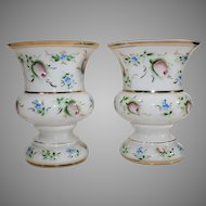 Pair of Czechoslovakian Cased Opalescent Vases -1918-1938