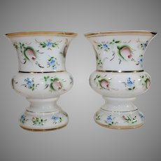 Pair of Czechoslovakian Cased Opalescent Vases -1918-1938
