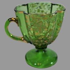 Moser Emerald Green Creamer - c. 1890