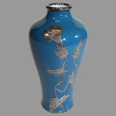 Miniature Loetz Silver Inlay Vase - c. 1920s
