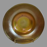 Tiffany Favrille Art Nouveau Iridescent Gold Bowl - c. 1900