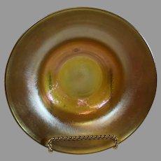 Tiffany Favrille Art Nouveau Iridescent Gold Bowl - c. 1900