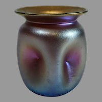 Quezal Iridescent Gold Art Nouveau Small Vase - c. 1901