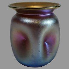 Quezal Iridescent Gold Art Nouveau Small Vase - c. 1901