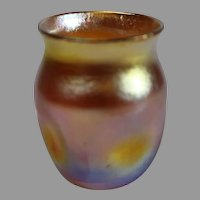 Tiffany Miniature Vase - Gold Iridescent - c. 1900
