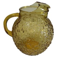Amber Ball Water Pitcher - c. 1960s