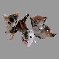 Set of Kittens - Porcelain Vintage Miniatures