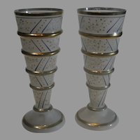 Czechoslovakian Art Glass Vases - 1918-1938
