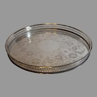 Sheffield England Silverplate Serving Tray 12 inch - c. 1970