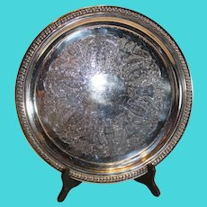 Wallace Silverplate Serving Tray 14 inch - c. 1970s