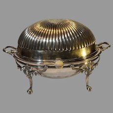 Vintage Baroque Silver-plate Breakfast Warmer - S and Co.