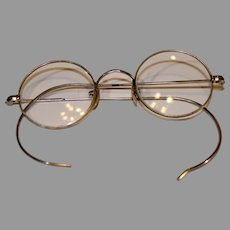 Antique Nichel Plated Eye Glasses - late 1800s