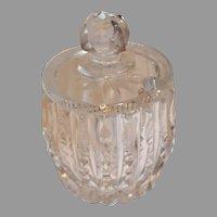 American Brilliant Cut Crystal Jam or Honey jar - c. 1900