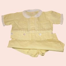 Toddler Jumper Set with 2 Shirts and Cap - 1940s