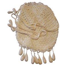 Vintage Crochet Hand Bag - 1930s