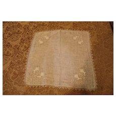 2 Linen Bridal Handerchiefs - 1940s