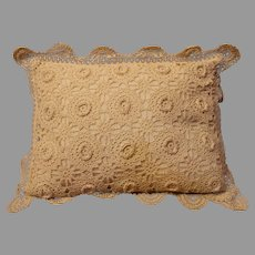 Vintage Crochet Baby Pillow - 1940s