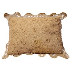 Vintage Crochet Baby Pillow - 1940s