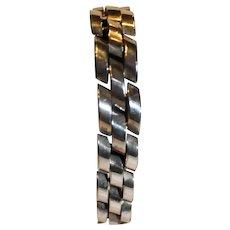 Vintage Sterling Silver Men's Bracelet - 1990s