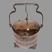 International Silver - EP Sugar Cellar with Mechanical Lid - 1920s