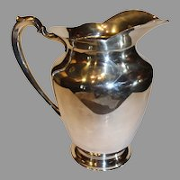 Vintage Wilcox Silver-plate Water Pitcher - 1950s