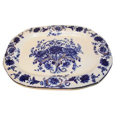 T. Rathbone and Co. Crysanthemum Pattern English Server - 1889-1923