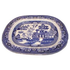 Buffalo Pottery, Flow Blue Platter - 1911