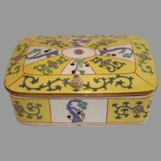 Vintage Herend Hand Painted Porcelain Box - c. 1915-30