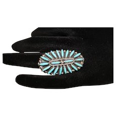 Vintage Native American Turquoise/Sterling Silver Ring