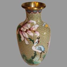 Vintage Cloisonee Vase 20th Century