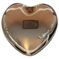 Vintage Baccarat Crystal Heart Paperweight