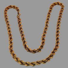 Vintage Gentleman's Gold Plated 12K Chain Necklace - 1970s