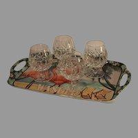 Vintage Waterford Lismore Brandy Glasses - Set of 4