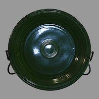 Vintage Dark Forest Green Fiesta Dinner Plate - 1951-59