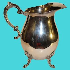 Vintage Wilcox International Silver Co. Water Pitcher
