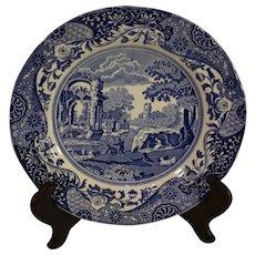 Vintage Spode Italian Pattern Flow Blue Salad Plate