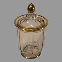 Vintage Pressed Glass Jam Jar - 1930s