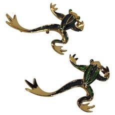 Vintage Gerrys Costume Jewelry Frog Pins